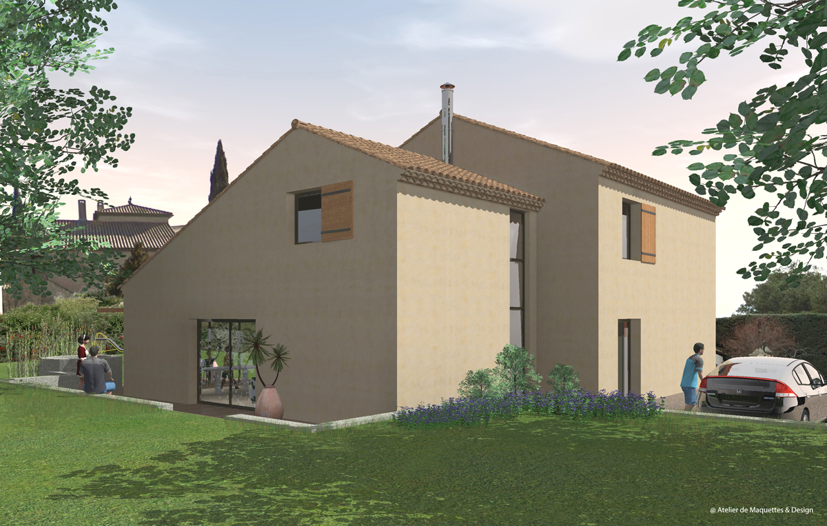 maquette-architecture-image-synthèse-maison-individuelle-faurous-constant